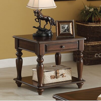 Farrel End Table With Storage