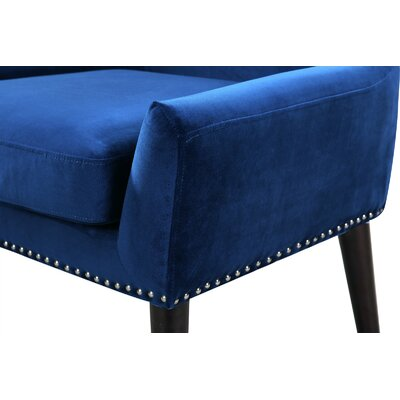 Zita High Back Arm Chair Upholstery: Blue