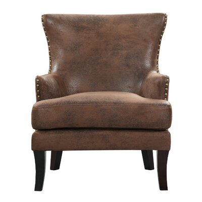 Keyes Armchair Finish: Black, Upholstery: Solid/Red