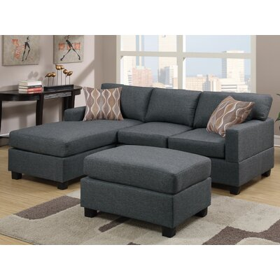Vine Sectional Upholstery: Grey