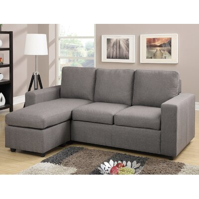 Rossa Reversible Modular Sectional Upholstery: Gray
