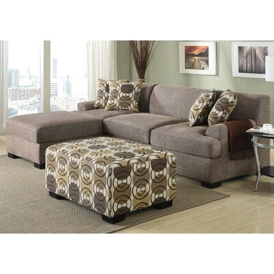 Arroyo Reversible Sectional with Ottoman Upholstery: Slate