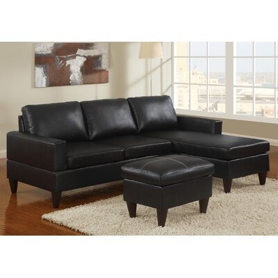A&J Homes Studio ZD-7WF2A9J7BLK Janess Sectional