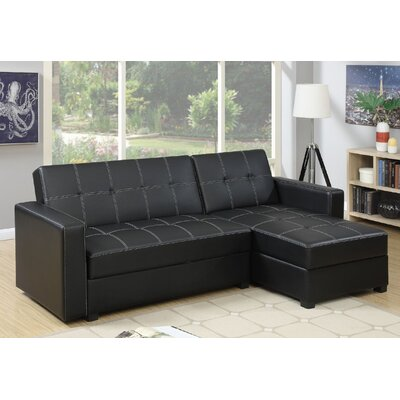 Esperanza Sleeper Sectional Upholstery: Black