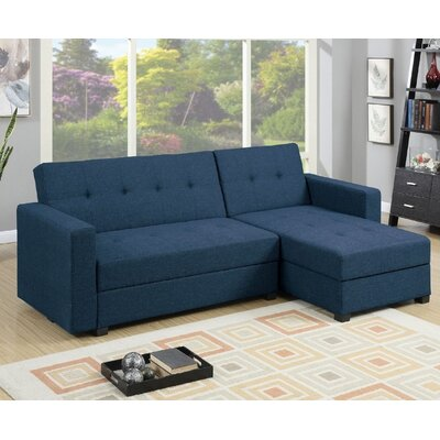 Esperanza Sleeper Sectional Upholstery: Navy
