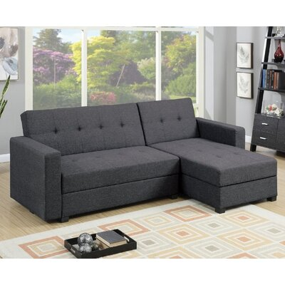 Esperanza Sleeper Sectional Upholstery: Grey