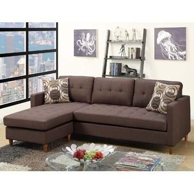 Mendosia Sectional Upholstery: Chocolate