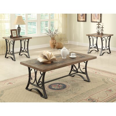 Kiele 3 Piece Coffee Table Set