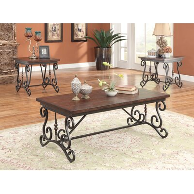 Bagga 3 Piece Coffee Table Set