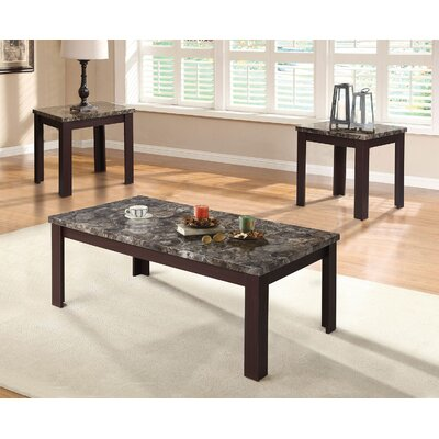 Carly 3 Piece Coffee Table Set