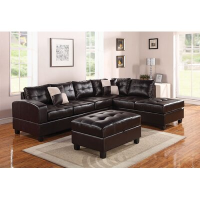 Mandy 5 Piece Sectional Sofa and Ottoman Set