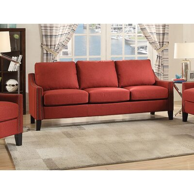 Bracken Sofa Upholstery: Red