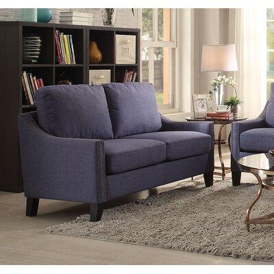 Zuka Loveseat Upholstery: Blue