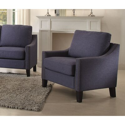 Zapata Arm chair Upholstery: Blue