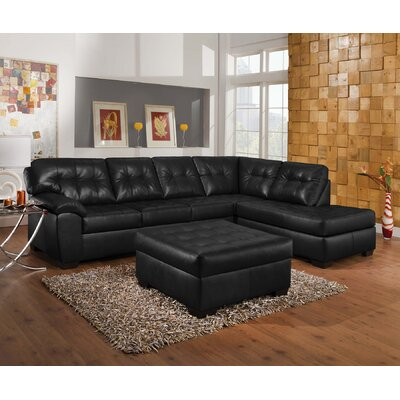 Shikura Sectional Upholstery: Black