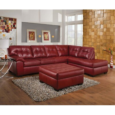 Shikura Sectional Upholstery: Red