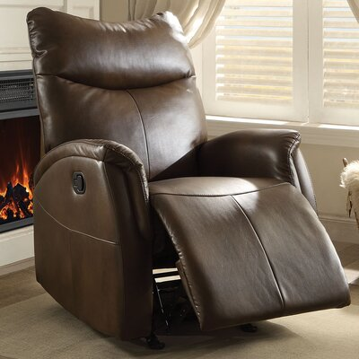 Risona Recliner Upholstery: Brown