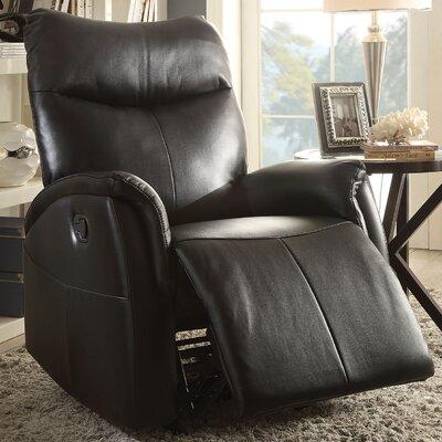 Risona Power Recliner Upholstery: Black