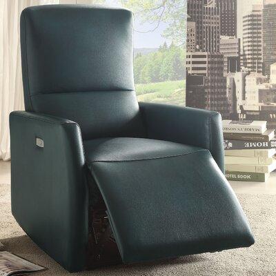 Raff Recliner Upholstery: Blue