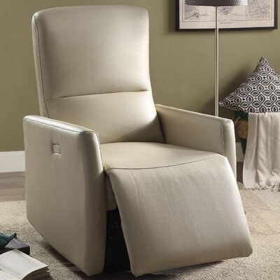 Raff Power Recliner Upholstery: Beige