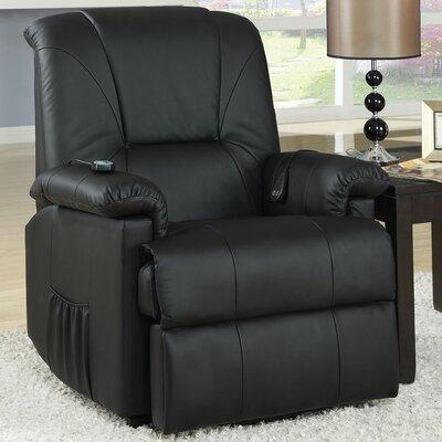 Reseda Power Recliner Upholstery: Black