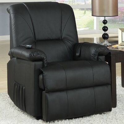 Reseda Recliner Upholstery: Black