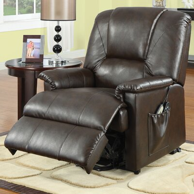 Reseda Recliner Upholstery: Brown