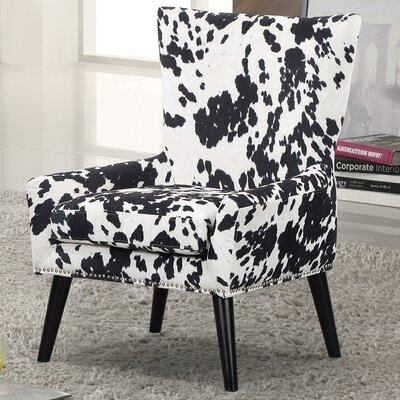 Zita Armchair Upholstery: Black/White