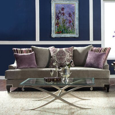 Viscontti Loveseat Upholstery: Gray