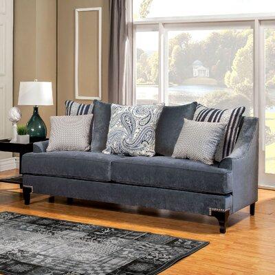 Viscontti Loveseat Upholstery: Slate blue
