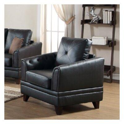 Fenner Armchair Upholstery: Black