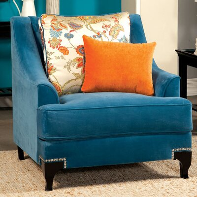 Viscontti Armchair Upholstery: Peacock blue