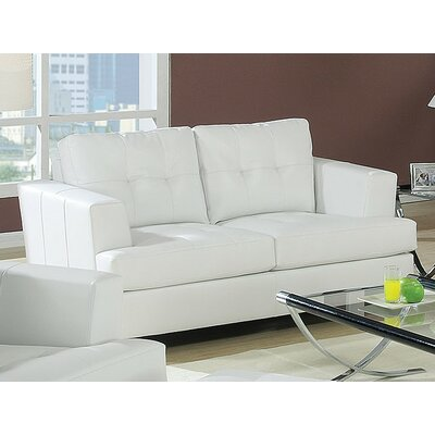 Fremont Loveseat Upholstery Color: White