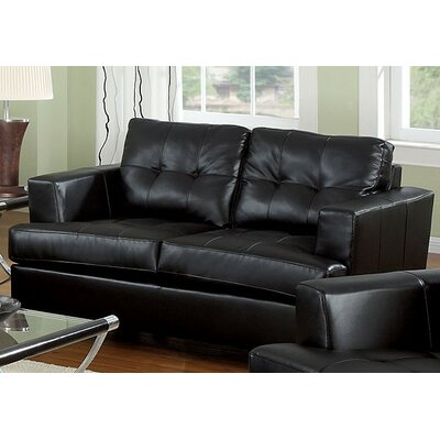 Fremont Loveseat Upholstery Color: Black