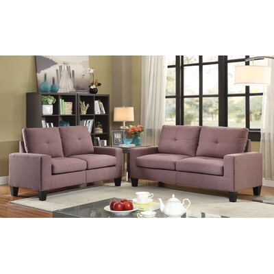 Dipesh Sofa and Loveseat Set Upholstery: Chocolate