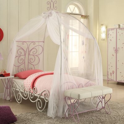 Saundra Canopy Bed Size: Twin