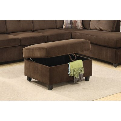 Tavish Storage Ottoman Upholstery: Chocolate