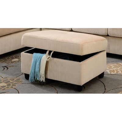 Tavish Storage Ottoman Upholstery: Beige
