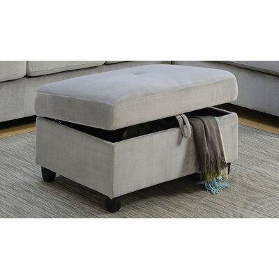 Tavish Storage Ottoman Upholstery: Gray