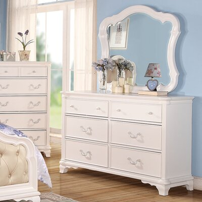 Kintore 6 Drawer Dresser with Mirror