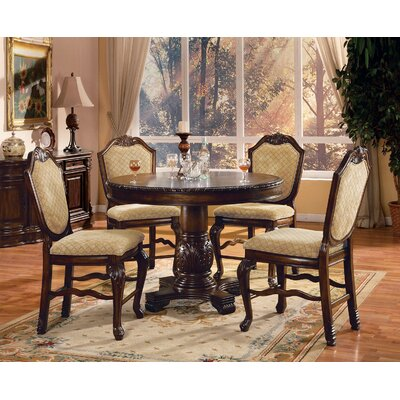 Mcclelland 5 Piece Counter Height Dining Table Set Color: Espresso