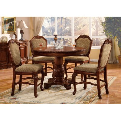 Mcclelland 5 Piece Counter Height Dining Table Set Color: Cherry