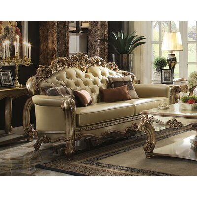 Mccarroll Wood Frame Sofa with 4 Pillow