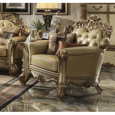 Mccarroll Upholstered Club Chair with 2 Pillows