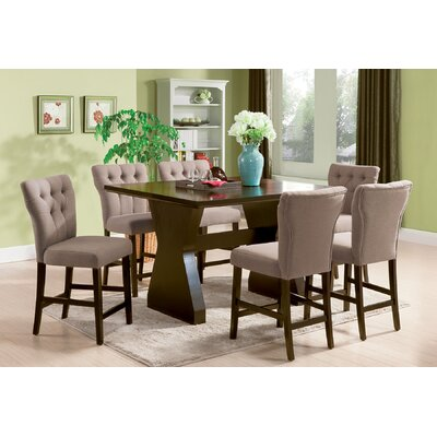 Meyersdale 6 Piece Counter Height Dining Set Chair Color: Light Brown