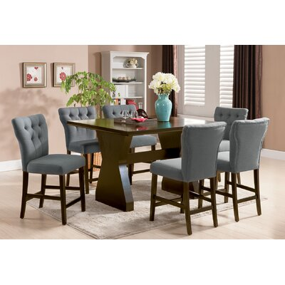 Meyersdale 6 Piece Counter Height Dining Set Chair Color: Gray
