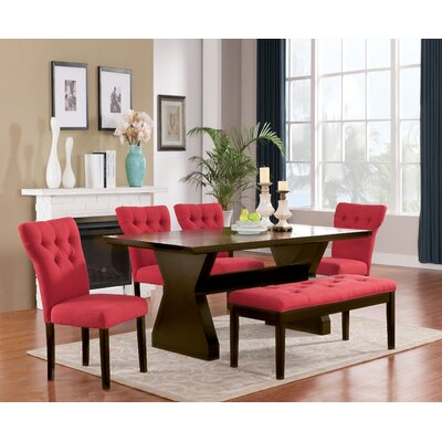 Cheatham 6 Piece Dining Set Color: Red
