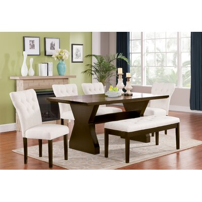 Cheatham 6 Piece Dining Set Color: Beige