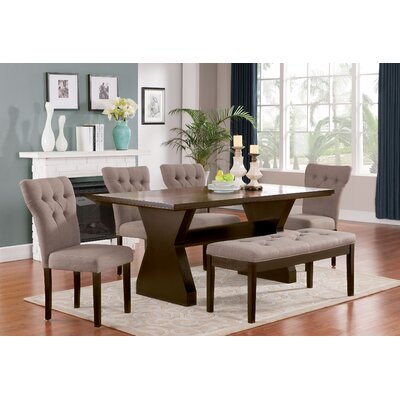 Cheatham 6 Piece Dining Set Color: Light Brown