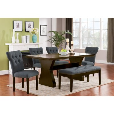 Cheatham 6 Piece Dining Set Color: Gray